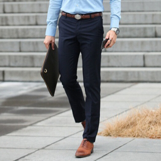 2017 Brand New Autumn Spring Men Casual Long Straight Suit Pants