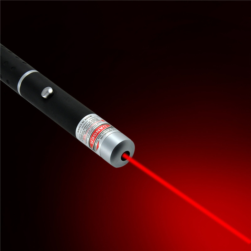 5mW Laser Pointer High Power Laser Pointer Pen Adjustable Burning Match with 2 X AAA Battery Portable Size Laser Pointer Pen