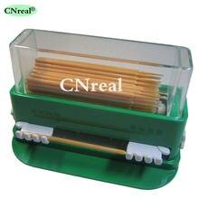 1 шт зубная микро щетка аппликатор диспенсер зеленый пластик