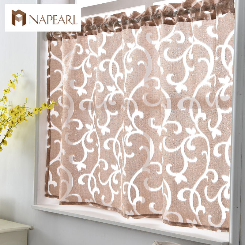 Short Kitchen Curtains Jacquard Window Treatments Modern Door Ready Made Luxury European Style Door Curtain Decorative Home