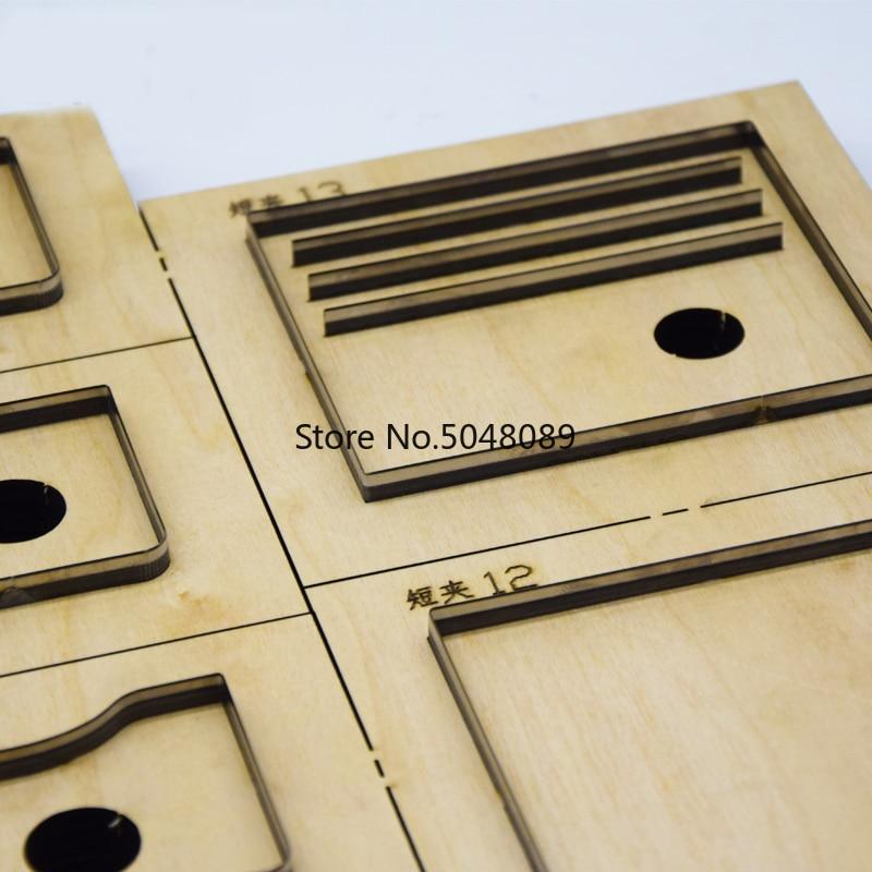 Molde de cuchillo de cuero de hoja de acero japonés multifunción cartera hueca cuchillo molde Plantilla de cuero herramienta de corte troqueles de madera-in Punzonado from Hogar y Mascotas    3