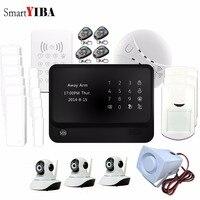 SmartYIBA APP Control 720P WiFi HD IP Camera WiFi GSM SMS Alarm RFID Keypad Smoke Siren