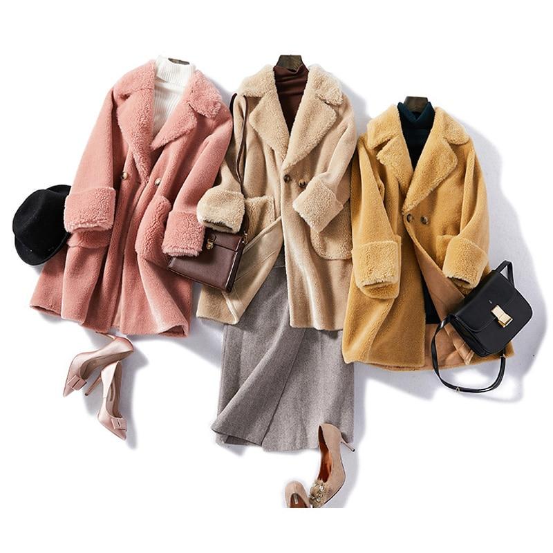 Vero Moda new style 47 wool color matching button wool coat women 318427513