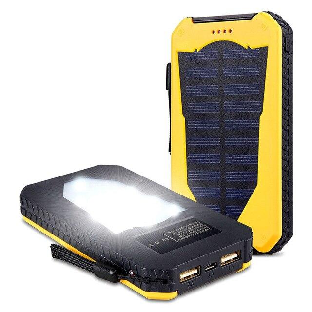 Waterproof Solar Power Bank 20000 mAh  2