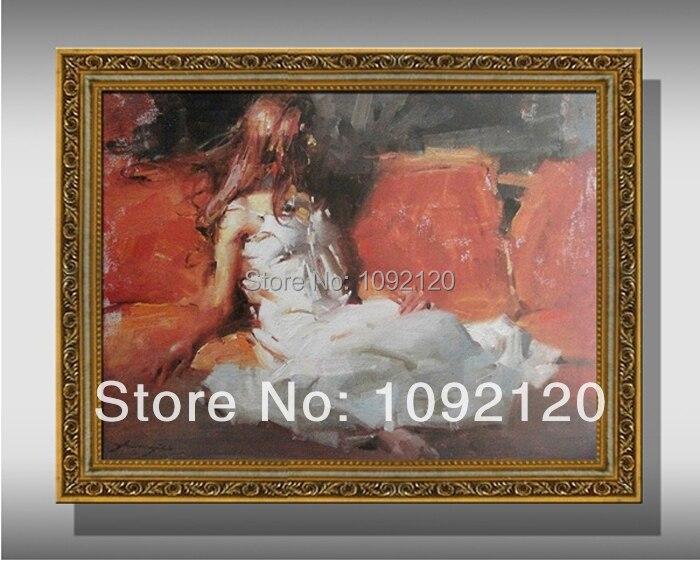 Ombie Für Mädchen Weißes Hochwertige Frauen Auf 51Off Us43 9 Gap Kleid Abercr Ölgemälde Gemälde Leinwand handgemachte Bilder rsdxQtCh
