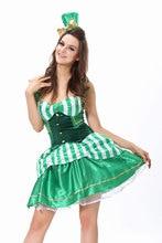 Ensen mago sexy payaso de circo verde color de la honda princesa dress domadores de halloween cosplay ropa del funcionamiento de la etapa