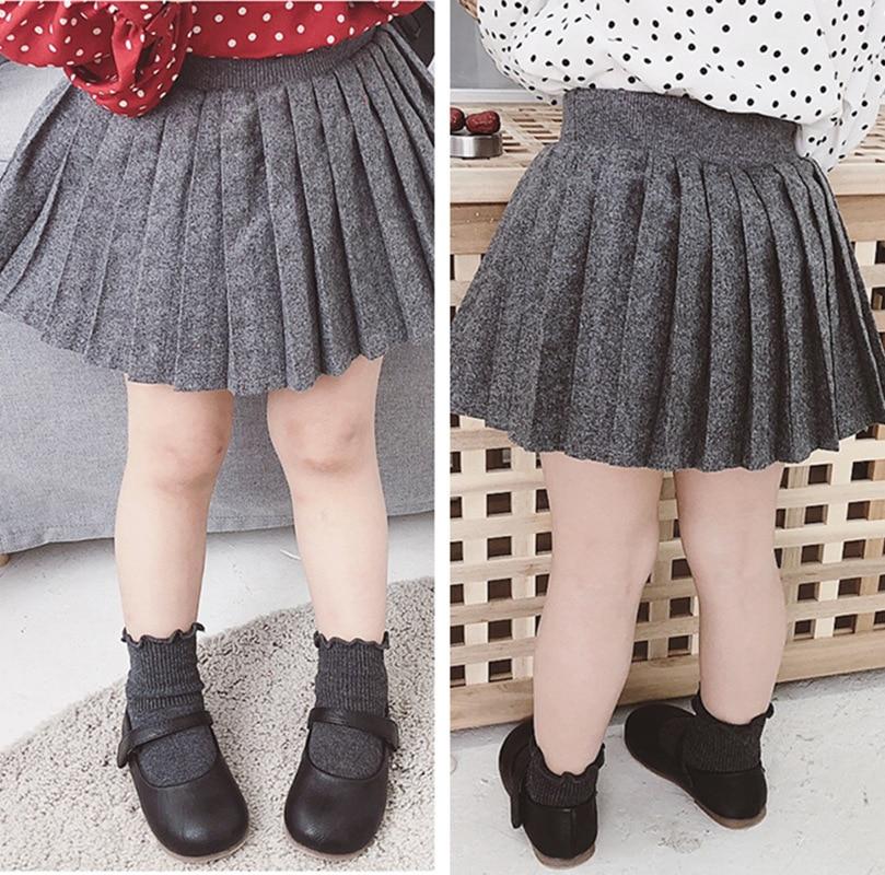Dziecko модные юбки для девочек трикотажные 2019 новые летние