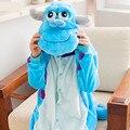 Monstro Universidade Sullivan Traje Dos Desenhos Animados Cosplay Pijamas Adulto Animais Onesies Pijama Lar Roupa Pijama de Flanela