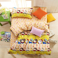 Hundred cotton,t hree-piece suit (a quilt cover,a sheet, a pillowcases)Suitable for 1.5 meters bed lovely cartoon characters