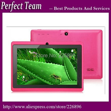 50pcs/lot 7 inch Tablet PC Q88  A33 512M 8G quad core Capacitive Screen Android 4.4 Dual camera DHL free shipping