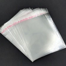 100pcs Clear Resealable Cellophane/BOPP/Poly Bags 9*13 cm Transparent OPP Packing Plastic Bags Self Adhesive Seal Free Shipping