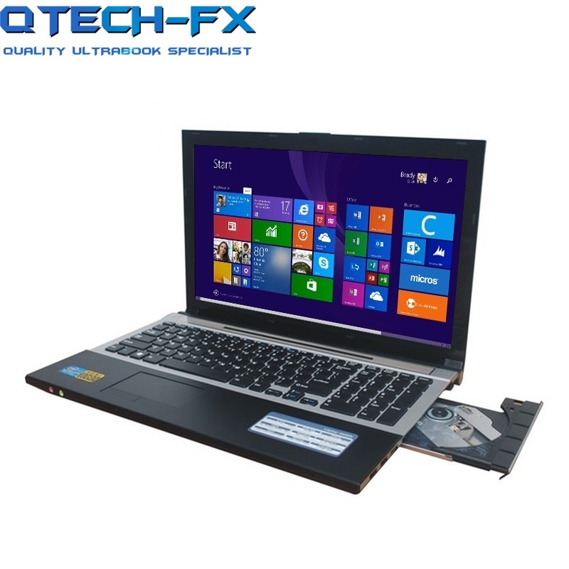 I7 игровой ноутбук 15,6 8 ГБ Оперативная память SSD 120 ГБ 240 ГБ 360 ГБ DVD быстро Процессор металла FHD Бизнес студент AZERTY-клавиатура с испанским и русс...