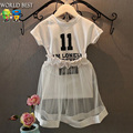 2016 Summer Style Casual Girls Clothing Sets Children's Clothing Girls Clothes Child Summer Fashion Set Girls Summer Clothes