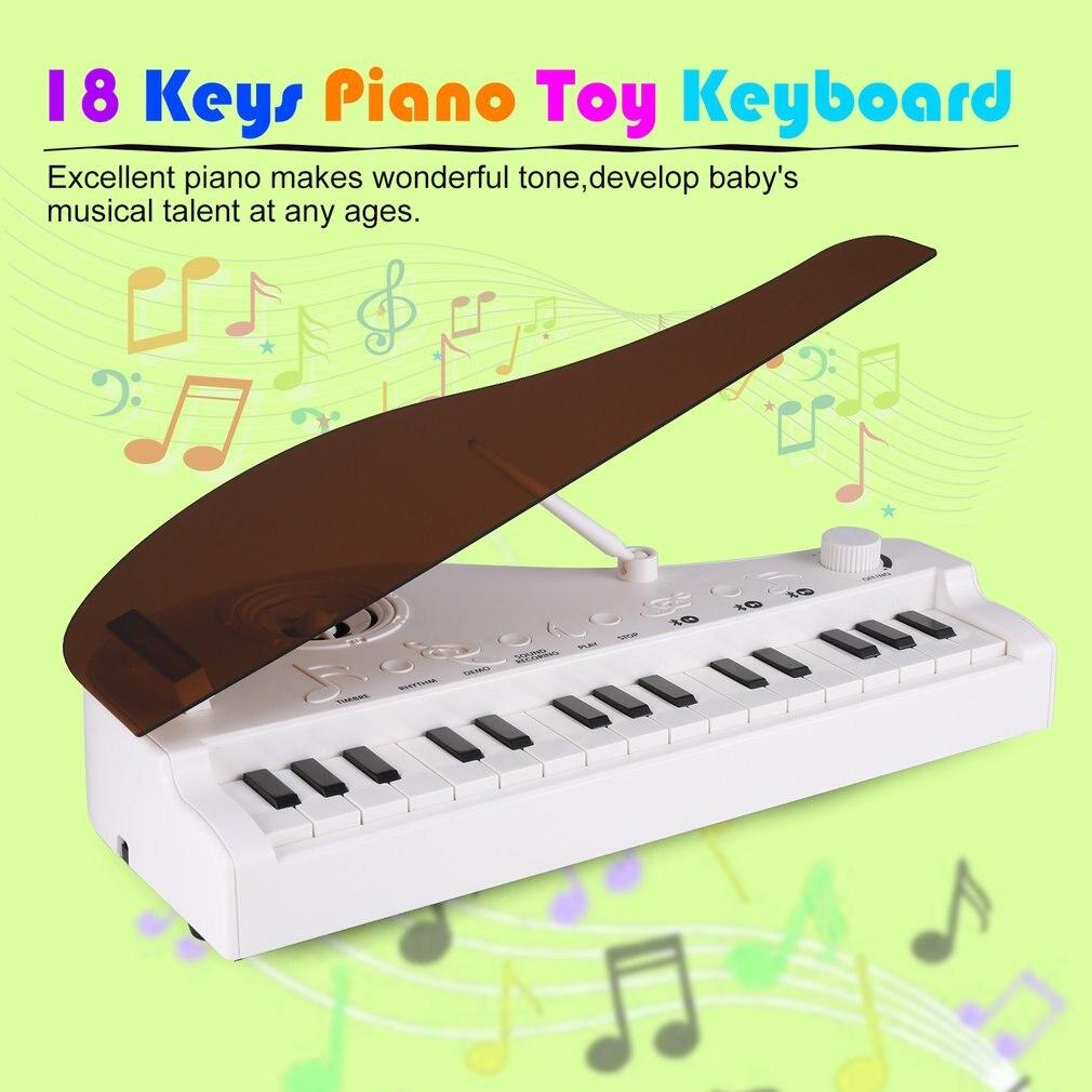 Hot 18 touches clavier Piano jouet pour enfants cadeau d'anniversaire Instruments de musique jouet électronique Piano avec voix HD forte Runtime - 3