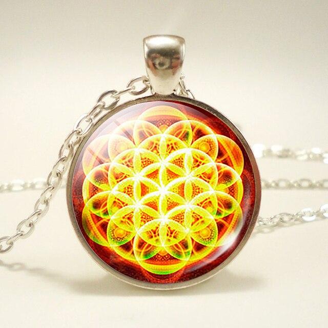 Sri Yantra Necklace Flower...
