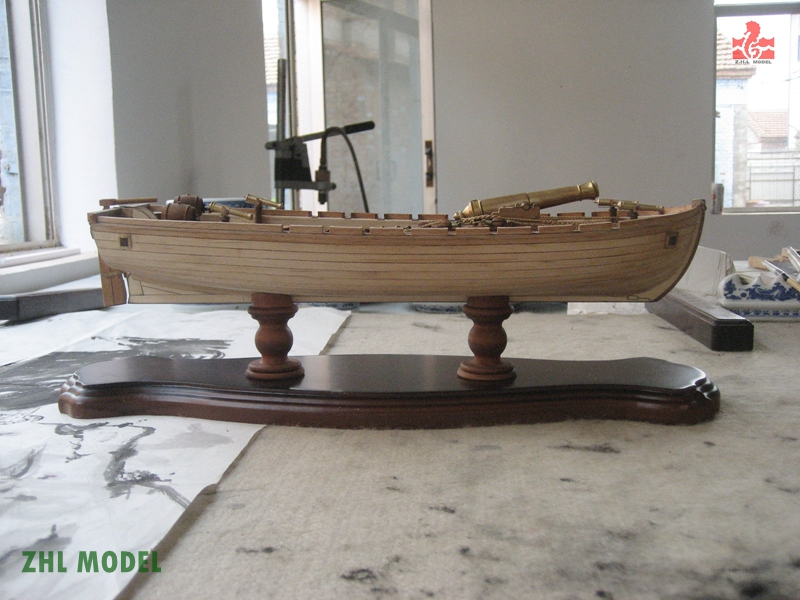 ZHL Chalupa 1834 model ship wood ingermanland 1715 model ship wood