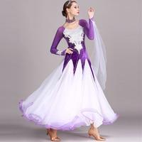 Bling Rhinestones Ballroom Dance Competition Dress Standard Dresses Modern Dance Costume Luminous Ballroom Waltz Dress DN1254