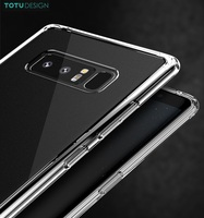 TOTU Brand Crystal Clear Soft TPU + PC Back Case For Samsung Galaxy Note 8 Anti-Yellowing Phone Cover