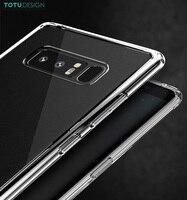 TOTU Marque Crystal Clear Souple TPU + PC Retour Cas Pour Samsung Galaxy Note 8 Anti-Jaunissement Téléphone Couverture