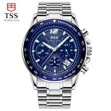 TSS Heuer CARRERA Calibre 01 Хронограф ТАХОМЕТР мужские часы люксовый бренд мужской спортивные часы из нержавеющей стали синий циферблат