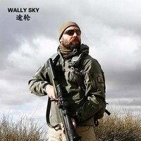 Outdoor TAD Shark Skin Soft Shell Jacket Men S Waterproof Windproof Warm Fleece Coat Military Hunting