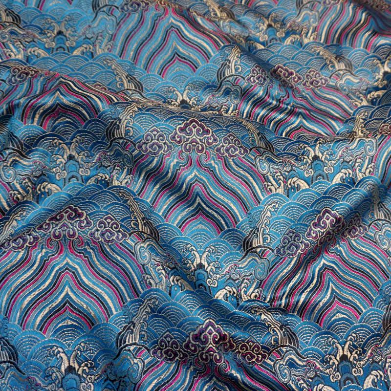 Nuovo arrivo Metallic Jacquard Brocade Fabric, modello vento 3D jacquard tinto in filo tessuto per le Donne del Vestito del Cappotto patchwork tenda