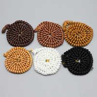 200cm DIY bien rizado pelucas de pelo blanco y negro, color Natural para trenzado pelucas BJD 1/3 de 1/6 a 1/4 muñecas peluca accesorios Juguetes