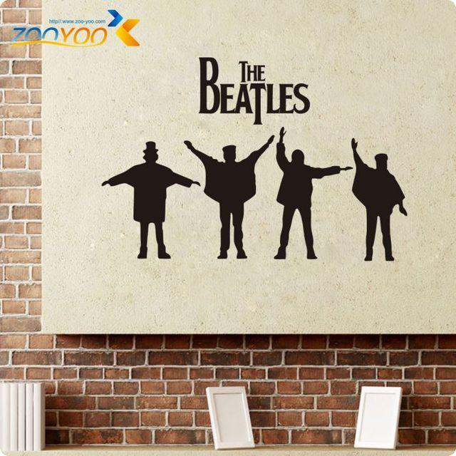 Beatles wall art aliexpress buy the beatles wall decals rock music poster