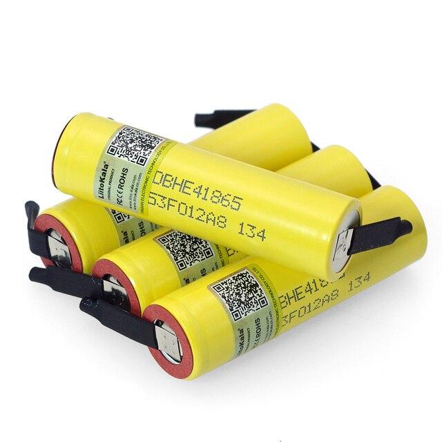 Liitokala Lii HE4 2500mAh Li lon Batterie 18650 3,7 V Power akkus Max 20A entladung + DIY Nickel blatt