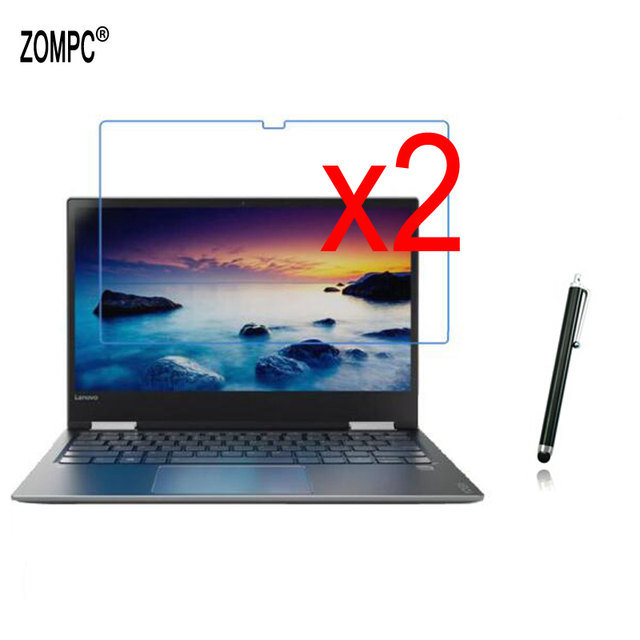 """2x Film Guards +2x Clean Cloth +1x Stylus Pen , Clear LCD Screen Protector Protective Films For Lenovo Yoga 720-15 15.6"""" Tablet"""