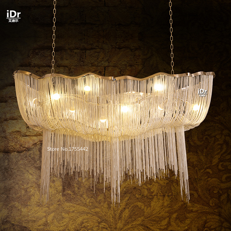 Continental Hotel Crystal Chandelier In The Living Room Luxury Penthouse  Villa Stairs Minimalist Jellyfish Chandeliers EET