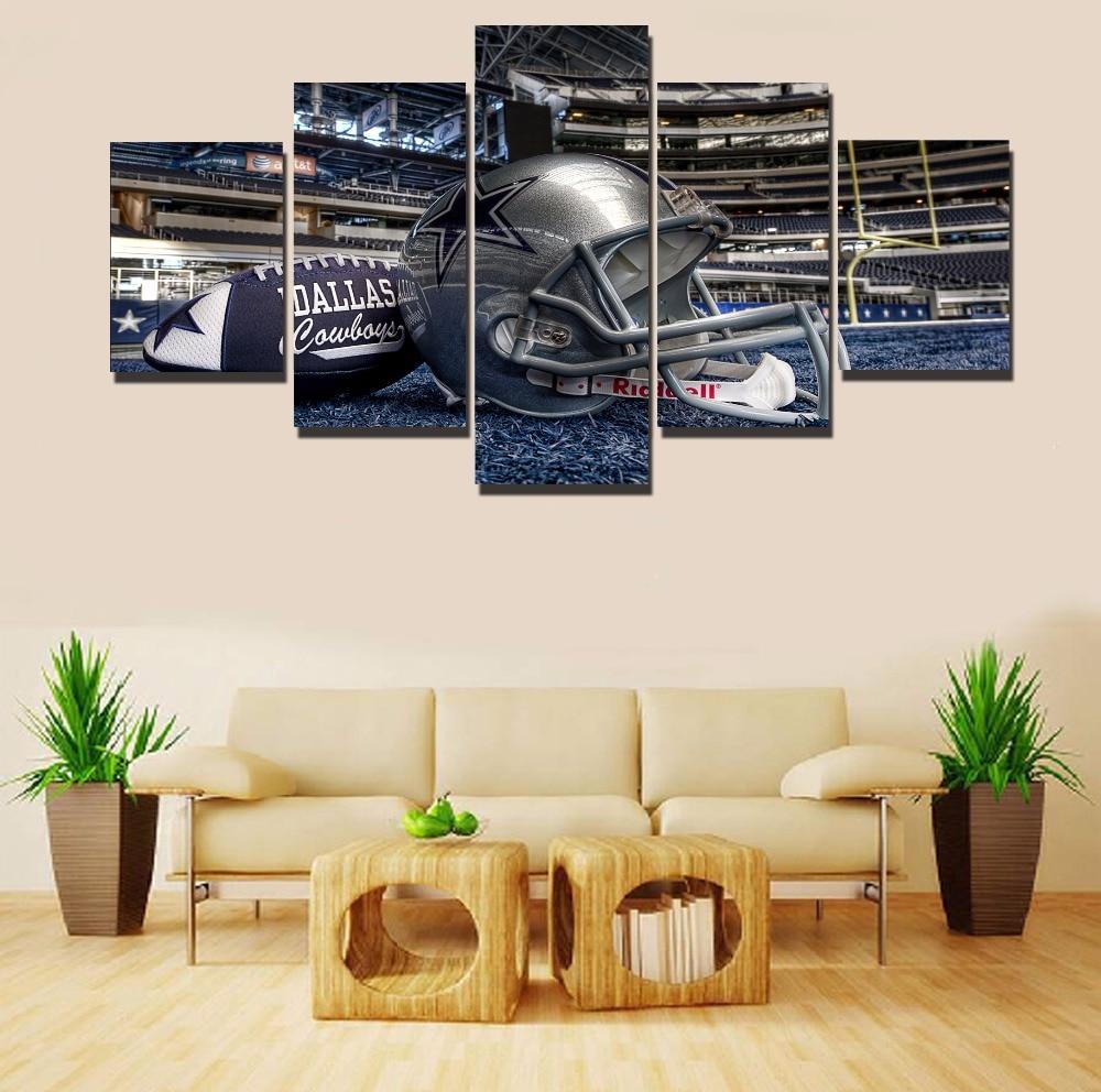 Dallas Cowboys Wall Art aliexpress : buy 5 piece canvas art sel 5 piece dallas cowboys