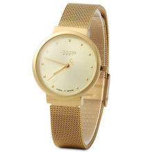 JULIUS JA-426L Women's Ultra Thin Silver Gold Brown Black Mesh Stainless Steel Fashion Casual Watch Female Waterproof Wristwatch