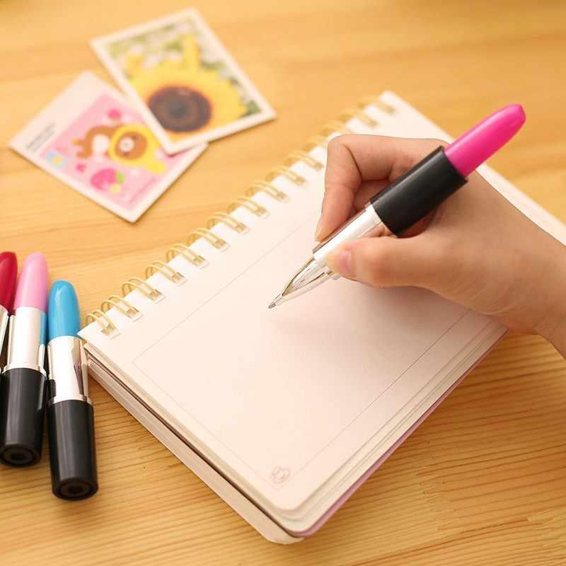 الإبداعية قلم أحمر شفاه لطيف Kawaii قلم للمدرسة مكتب لوازم الكرتون البلاستيك هلام القلم الإبداعية القلم لفتاة طالب
