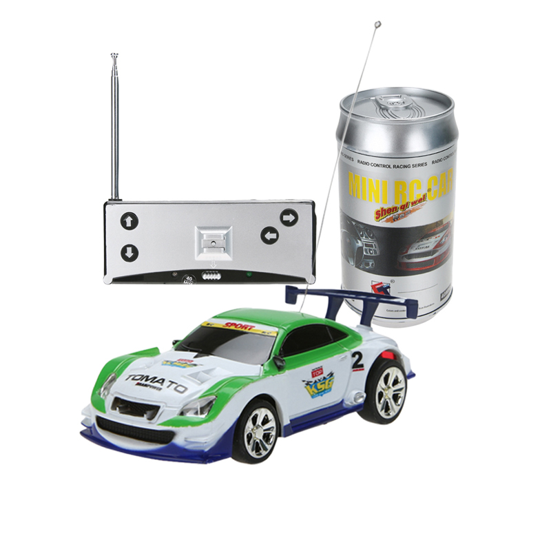 multicolors mini 1 58 coke can rc radio remote control micro racing car toy with 4pcs road. Black Bedroom Furniture Sets. Home Design Ideas