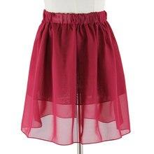 3842bbefcc 2018 nuevas muchachas de la gasa mini falda verano damas casual Slim Beach plisado  patinador medias
