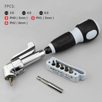 Multi Hand Tools Set 7 In 1 Positive And Negative Bent Screwdriver Set With Magnetic For