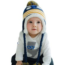 Newest baby hat cute penguinborn colorful winter hedging cap