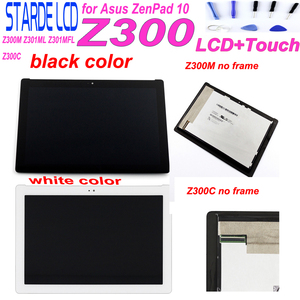 AAA Starde 10.1'' LCD for Asus ZenPad 10 Z300C P00C P01T Green Connector Z300M Z301ML Z301MFL Yellow Connector LCD Touch Screen(China)