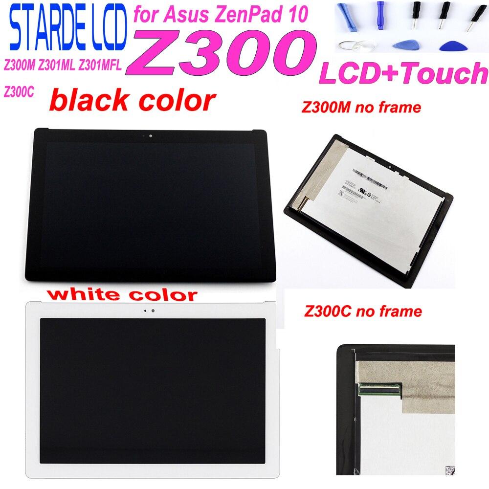 AAA Starde 10.1 ''LCD pour Asus ZenPad 10 Z300C P00C P01T connecteur vert Z300M Z301ML Z301MFL connecteur jaune écran tactile LCD