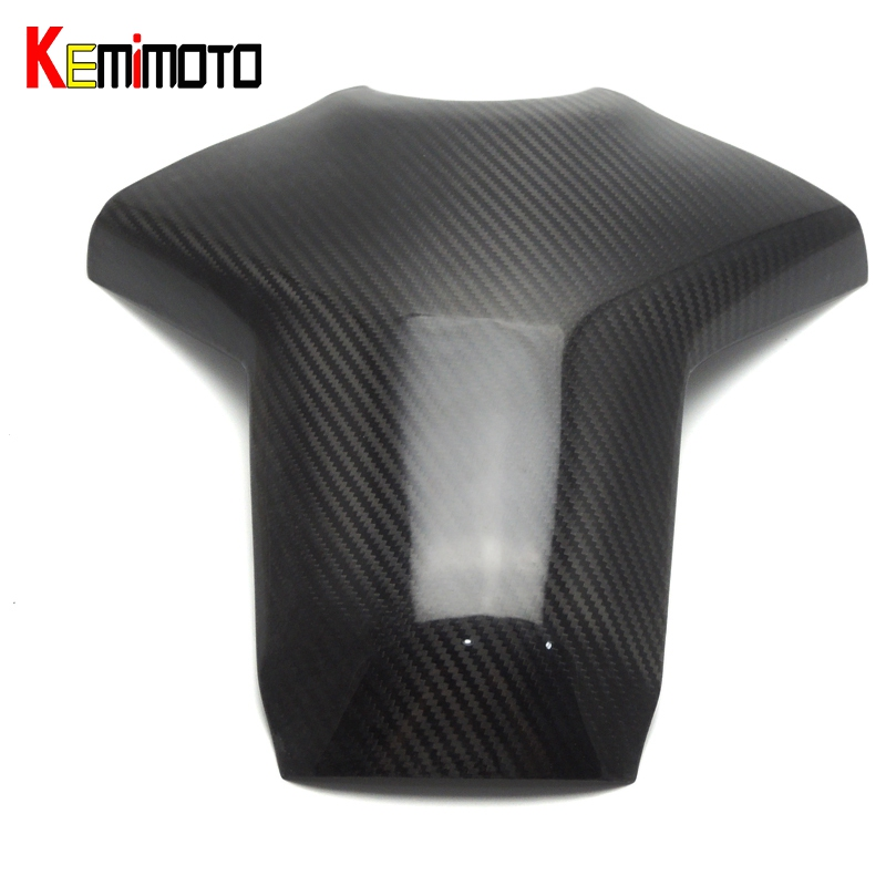 KEMiMOTO MT09 FZ09 100% Real Carbon Fiber Rear Tank Cover for Yamaha MT-09 FZ-09 2014 2015 2016 sep motorcycle accessories carbon fiber engine sprocket chain case cover clutch cover for yamaha mt09 fz09 tracer fj09 2014 2017