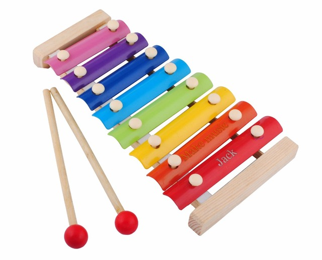 Personalized Engraved Wooden 8 Notes Xylophone Children Kids Glockenspil  Music Talent Toy Xylophone Wisdom AE0765