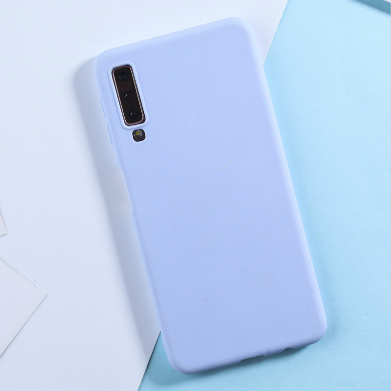 Candy Color TPU Cases For Samsung Galaxy A8 2018 Case For Samsung A6 A8 2018 A50 A3 A5 A7 2017 S10 Lite S9 S8 S7 Edge Plus Funda in Fitted Cases from Cellphones Telecommunications