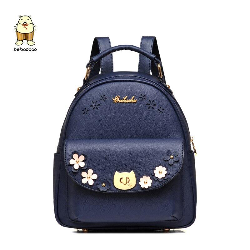 Femmes Pu cuir nouveaux sacs à dos de mode sacs d'école pour les filles fleur mignon étudiant sac mignon sac à dos en cuir