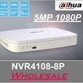 Nova venda quente Dahua NVR 8ch H.264 1080 P Gravador de Vídeo de Rede 1U NVR4108-8P inteligente Apoio Firmware Inglês e Onvif