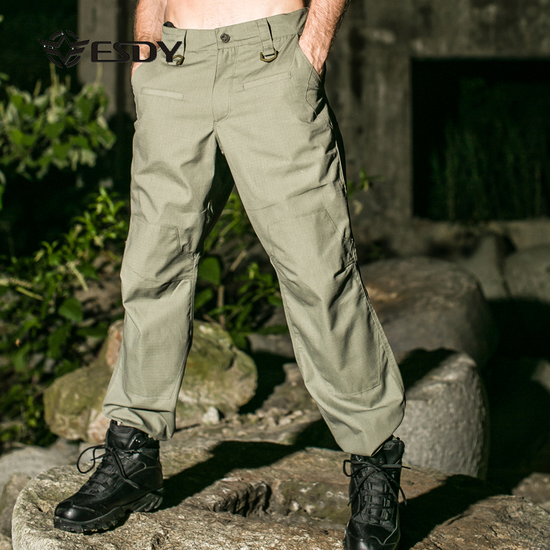 2017 Esdy New Tad Men Military Trousers Waterproof Pantalones Outdoor Sports Professional Tactical Climbing Hiking Pants esdy 613 men s outdoor sports climbing detachable quick drying polyester shirt khaki l