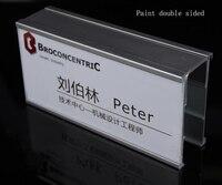 Aluminium Alloy Label Name Card Holder Frame Hook Double Sided
