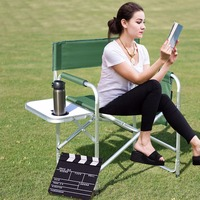 Giantex Folding Director's Chair Side Table Outdoor Camping Fishing W/Cup Holder Green Commercial Furniture OP3502GN