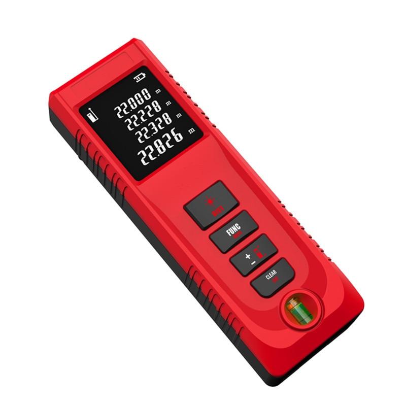 FJS 40M lazerinis atstumo matuoklis Skaitmeninis lazerinis atstumo matuoklis, nešiojamas išmatuoti atstumą / plotą / tūrį, IP54 matavimo įrankiai