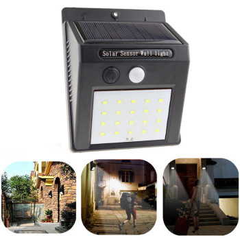 1-8pcs 20LEDs Solar Power Light Motion Sensor Wall Lighting Outdoor Garden Decoration Fence Stair Pathway Yard Waterproof Lights 6